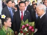 越共中央总书记阮富仲访问老挝博利坎赛省