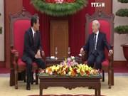 越共中央总书记阮富仲会见日本驻越南特命全权大使枚田邦妇