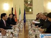 进一步加强越意两国合作关系