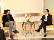 越南国家主席陈大光会见意大利民主党、重建共产党及共产党领导