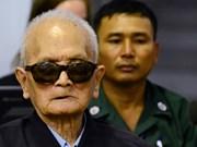 柬埔寨法庭维持对两名前红色高棉领导人的终审监禁原判