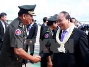 越南政府总理阮春福结束出席第九届柬老越发展三角区峰会回到河内
