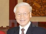 越共中央总书记阮富仲启程对老挝进行正式友好访问