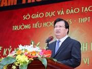 越南政府副总理郑廷勇:阮超学校是河内乃至越南全国教育模式的典范