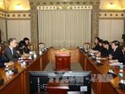 胡志明市领导会见美国拉斯维加斯金沙集团