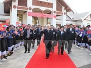 越共中央总书记阮富仲圆满结束对老挝进行正式友好访问