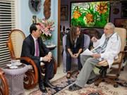 与古巴领袖菲德尔•卡斯特罗的最后一次会面