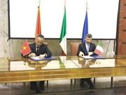 越南和意大利签署经济合作纪要