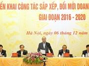 越南政府总理阮春福:大力推动国营企业调整、革新工作进程