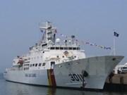 韩国海军两艘训练舰抵达金兰国际港