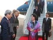 越南国会主席阮氏金银抵达新德里开始对印尼进行正式访问