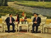 中国共产党领导会见越共中央组织部部长范明正