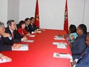 越共中央经济部部长阮文平对莫桑比克进行工作访问