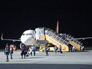 载运首批中国游客的航班从中国武汉直达越南大叻市