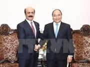 越南政府总理阮春福会见卡塔尔大使