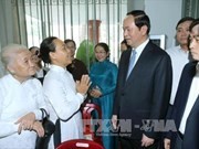 越南国家主席陈大光圣诞节前走访胡志明市天主教总教区