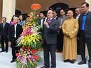 越南祖国阵线中央委员会主席阮善仁开展圣诞节走访活动