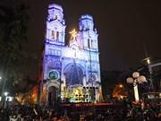 越南全国各地洋溢着圣诞气氛