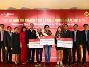 2016年岘港市巴拿山接待游客量达200万人次