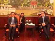 河内市委书记黄忠海会见柬埔寨金边市长巴速杰旺