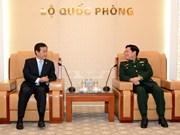 越南国防部部长吴春历大将会见韩国国防部副部长黄仁武