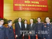 越南国家主席陈大光出席2017年人民检察部门工作任务部署会议