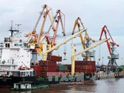越南海防港迎来2017年首批货入港