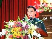 国会主席阮氏金银出席金瓯省重建20周年纪念典礼