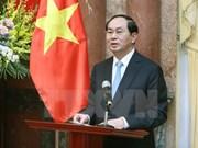 """越南国家主席陈大光:在国际舞台上树立起""""越南制造""""品牌形象"""