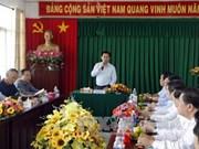 越南政府副总理王廷惠视察芹苴市各港口