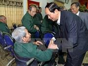 国家主席陈大光走访慰问宁平省荣军