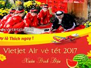 2017年春节越捷航空胡志明市飞往部分省市晚班享有6折起优惠