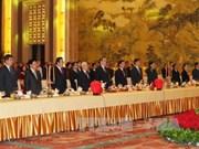 越共中央总书记阮富仲和中国全国政协主席俞正声出席越中建交67周年纪念典礼
