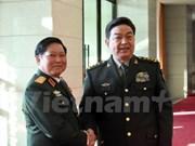越中两国国防部致力推动两国关系迈上新台阶