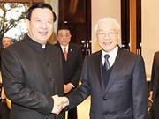 阮富仲总书记会见中国浙江省委书记夏宝龙
