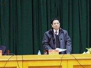 越共中央组织部部长范明正赴谅山省调研