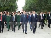国家主席陈大光春节前走访慰问第四军区司令部并拜年