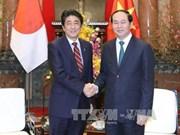 越南国家主席陈大光会见日本首相安培晋三