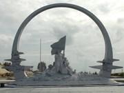 庆和省鬼鹿角战士纪念区工程塑像项目验收