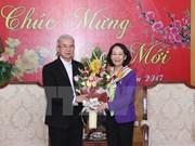 越共中央民运部部长会见来访的宗教代表团