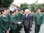 阮富仲总书记春节前看望慰问边防部队并致以新春祝福
