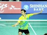 羽联排名:越南羽毛球名将阮进明仍保持在世界第42位