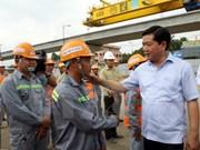 胡志明市加快推进两个重点交通项目施工进度