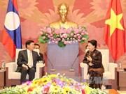 国会主席阮氏金银会见老挝总理通伦•西苏里