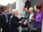 越共中央总书记阮富仲视察南定省