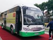 海防市太阳能公交车在吉婆岛试点投用