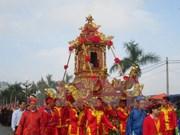 越南河内市巴维县伞圆山圣庙会开庙
