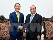 越南政府总理阮春福会见韩国国民银行总裁