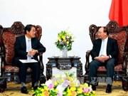 越南政府总理阮春福会见日本驻越大使梅田邦夫