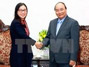 阮春福总理会见中国华为公司董事长孙亚芳